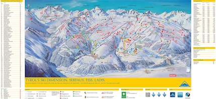 Serfaus Fiss Ladis piste map