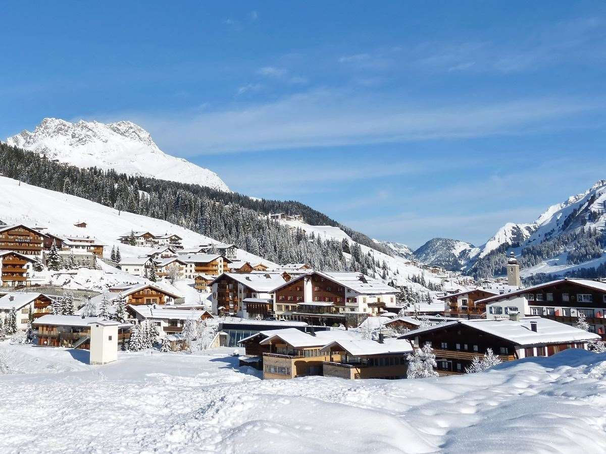 Lech ski resort village