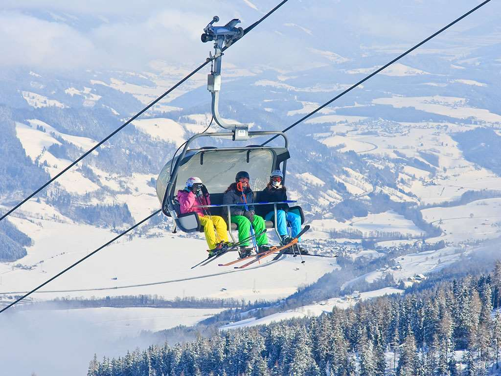 Chairlift views of Schladming