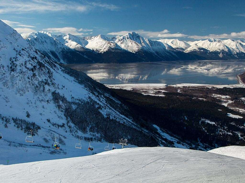 Skiing in Alyeska