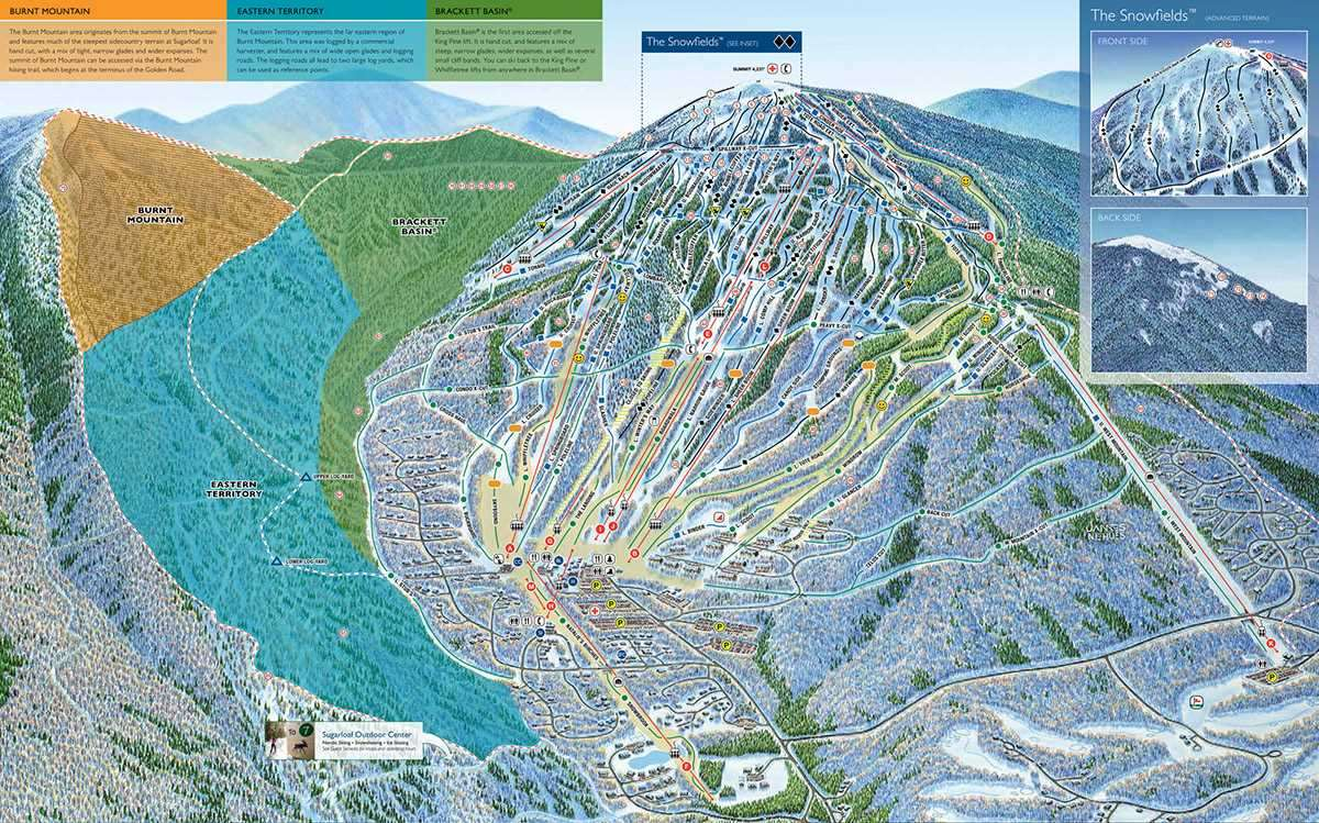 Sugarloaf Piste Map
