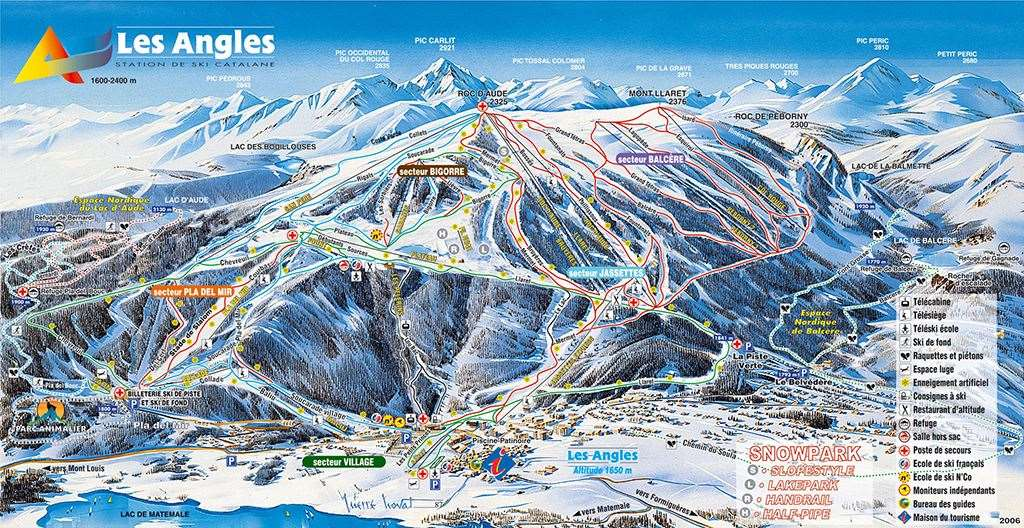 Les Angles Piste Map