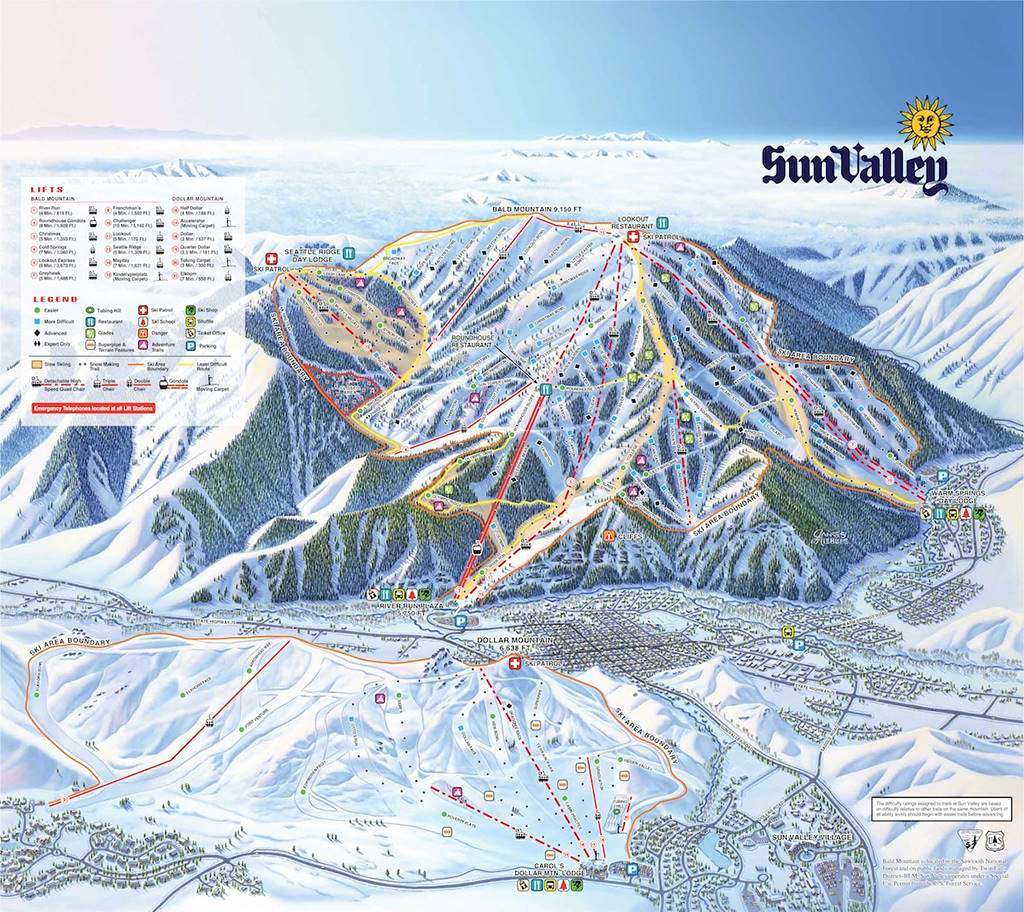Sun Valley Piste map