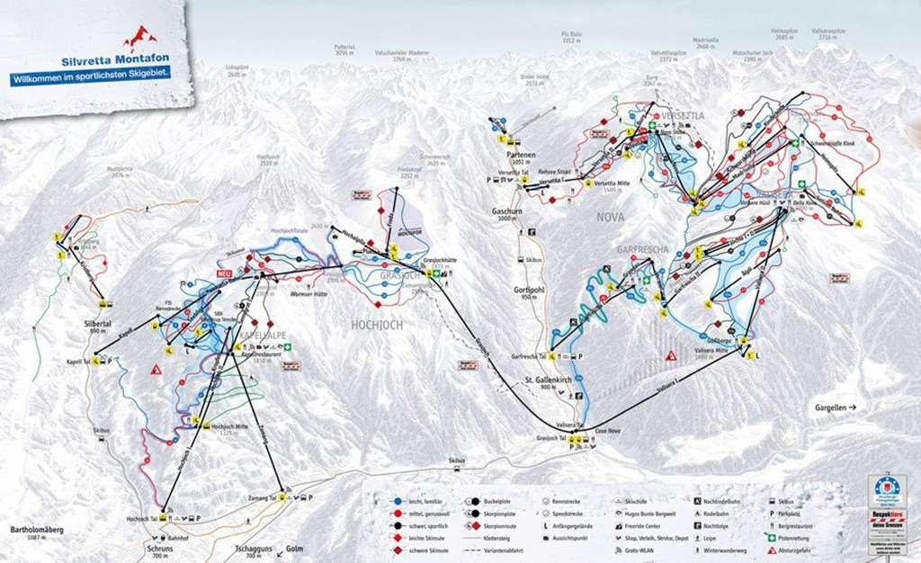 Silvretta Piste Map