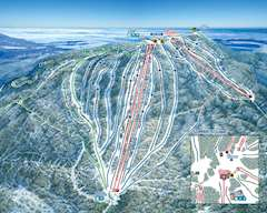 Mont Sainte Anne Piste Map