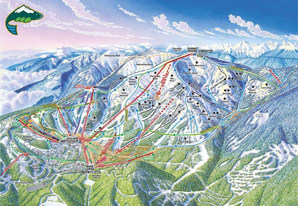 Whitefish Piste Map