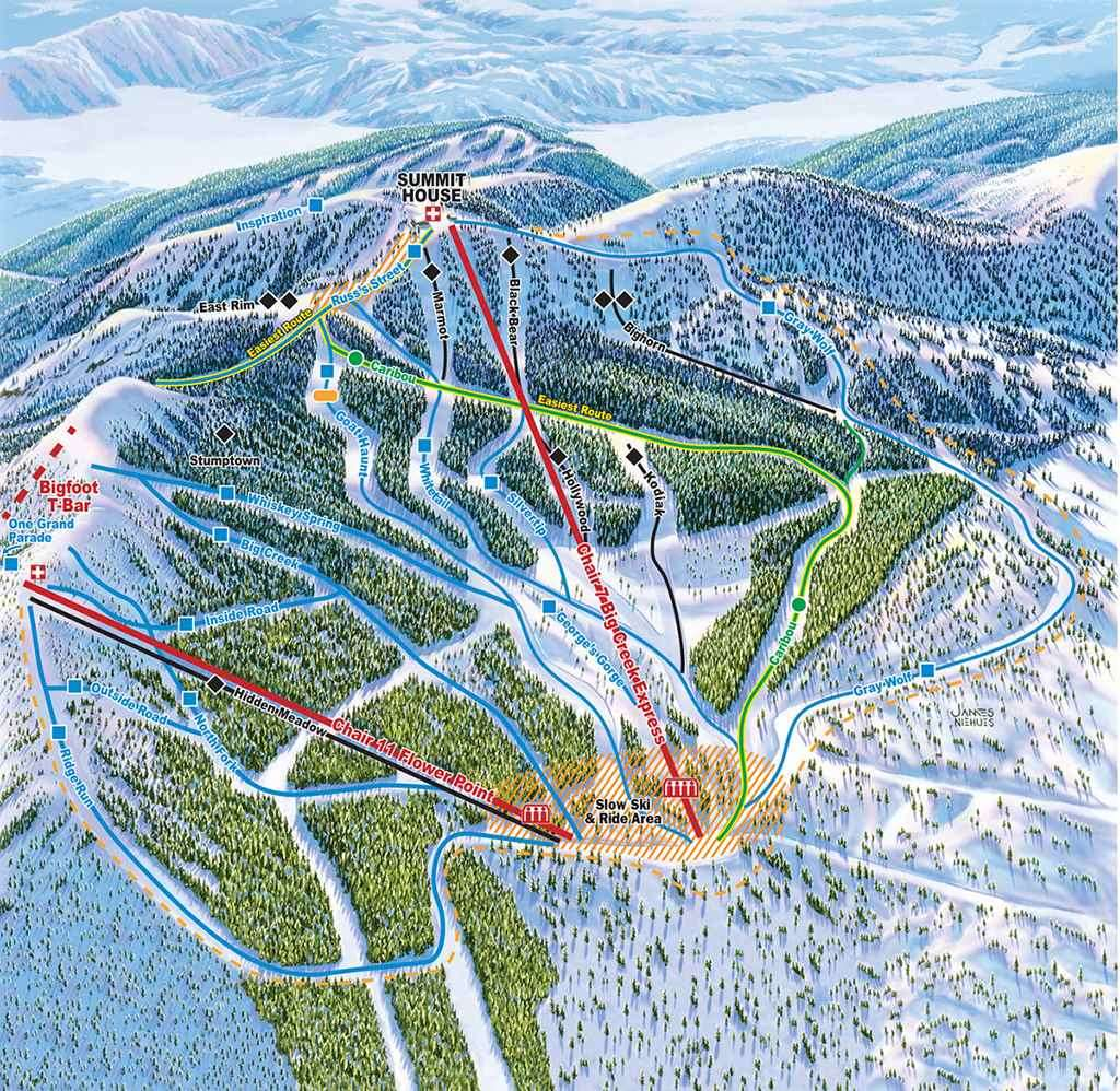 Whitefish Piste Map-2