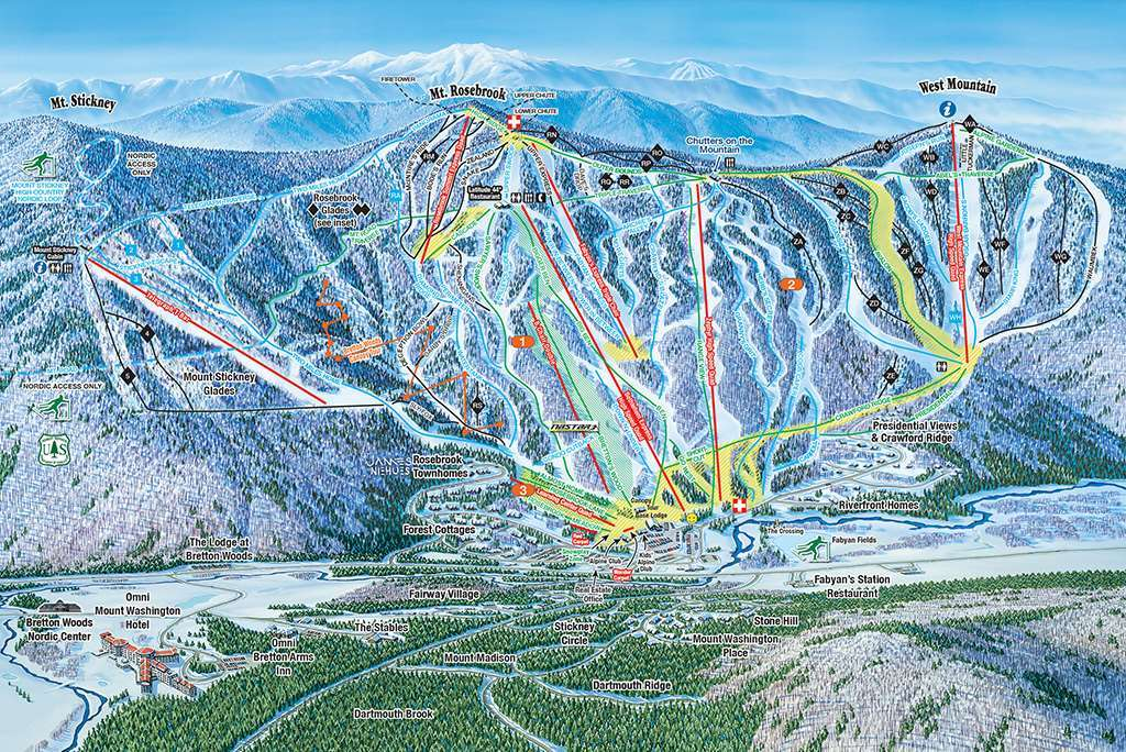 Bretton Woods Piste Map