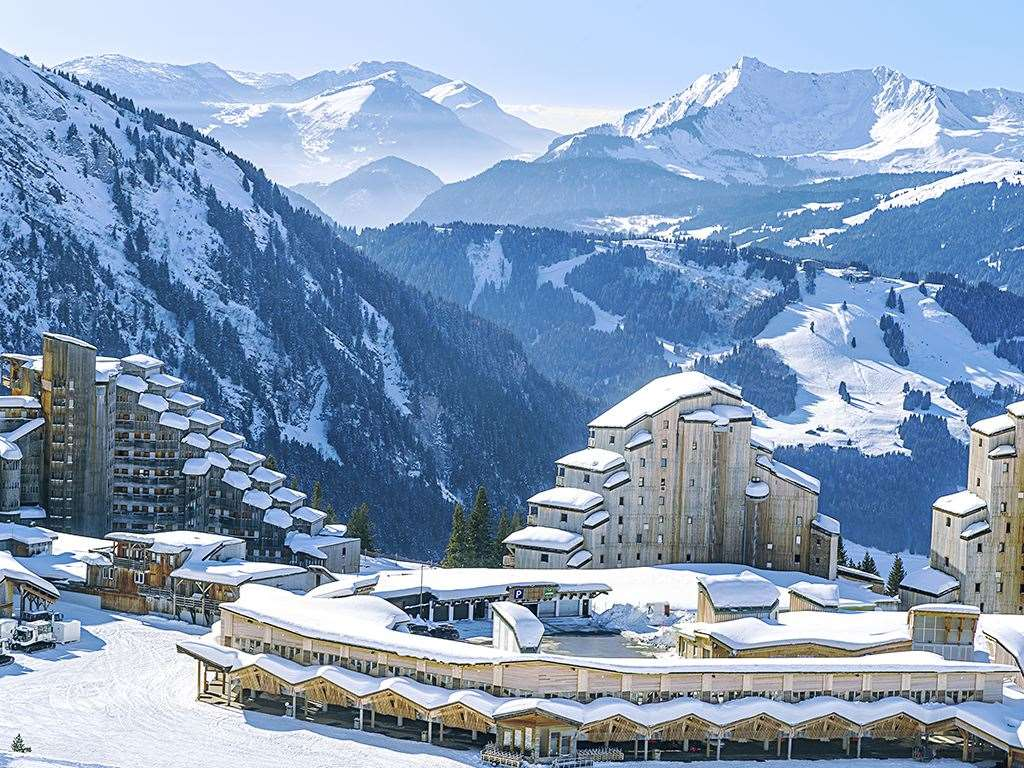 Avoriaz ski resort in France