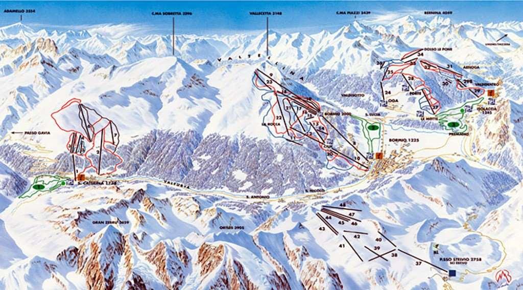 Bormio Piste Map Iglu Ski