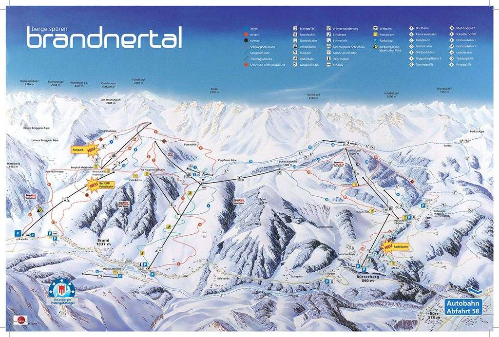 Brand and Burserberg piste map