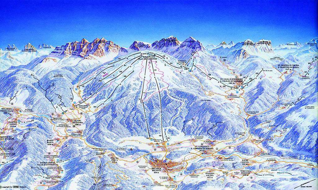 brunico piste map