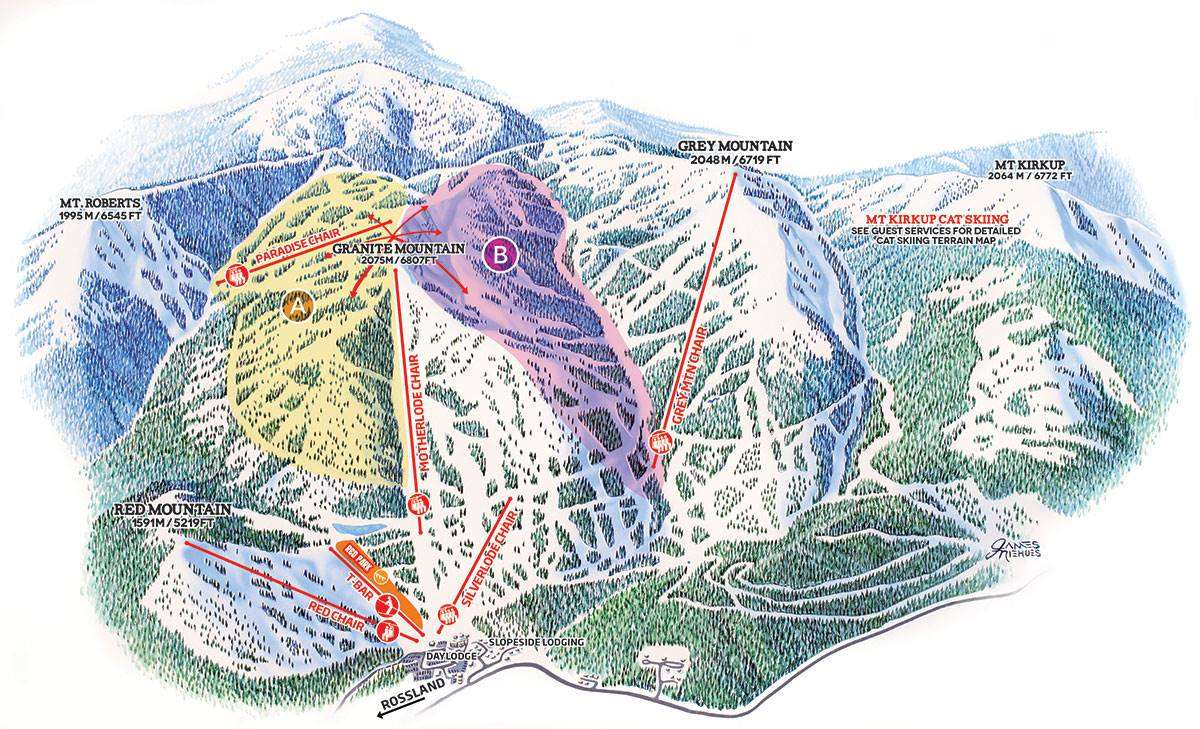 Red Mountain Piste Map 2