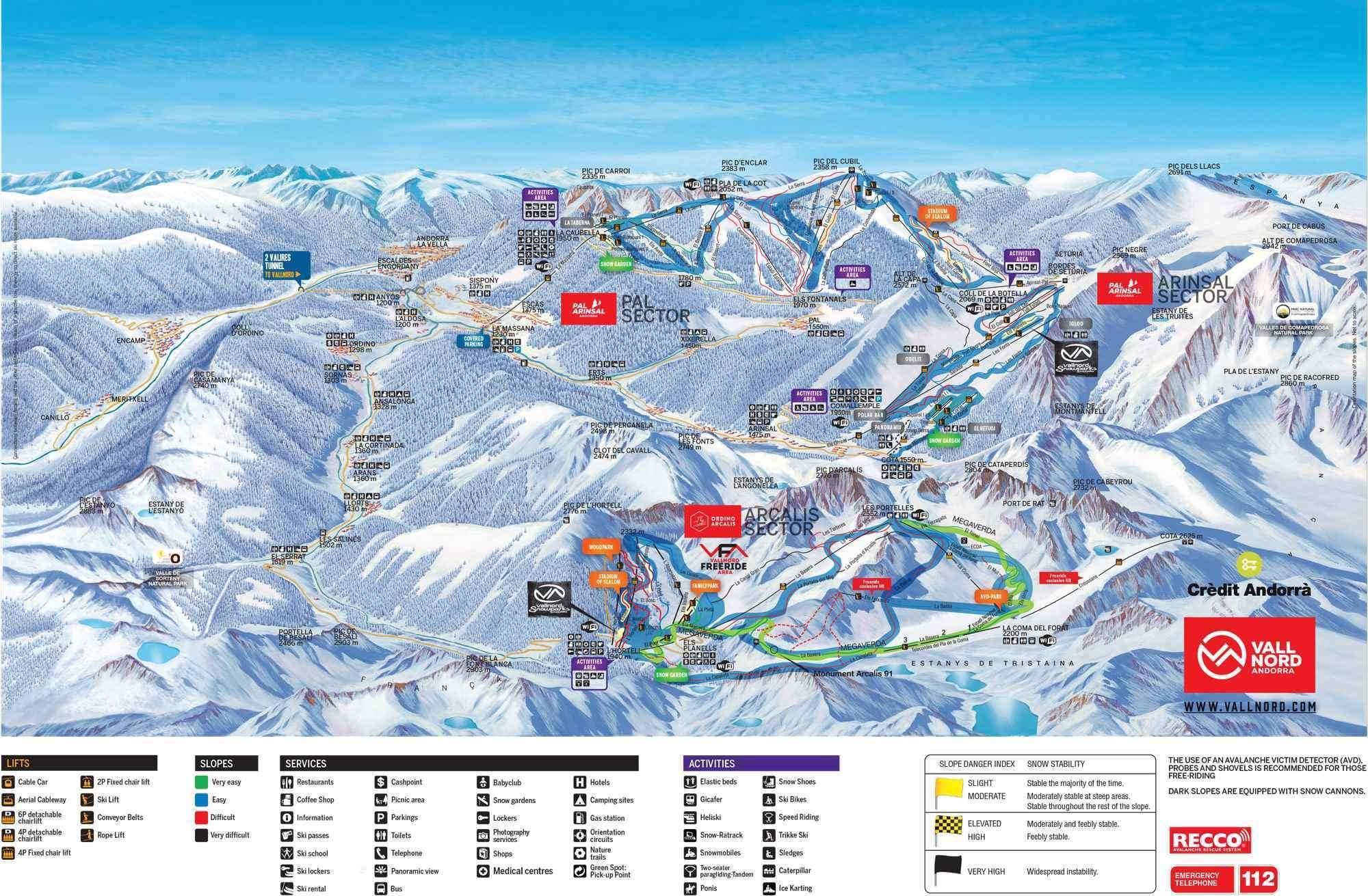 Arinsal Piste Map Iglu Ski