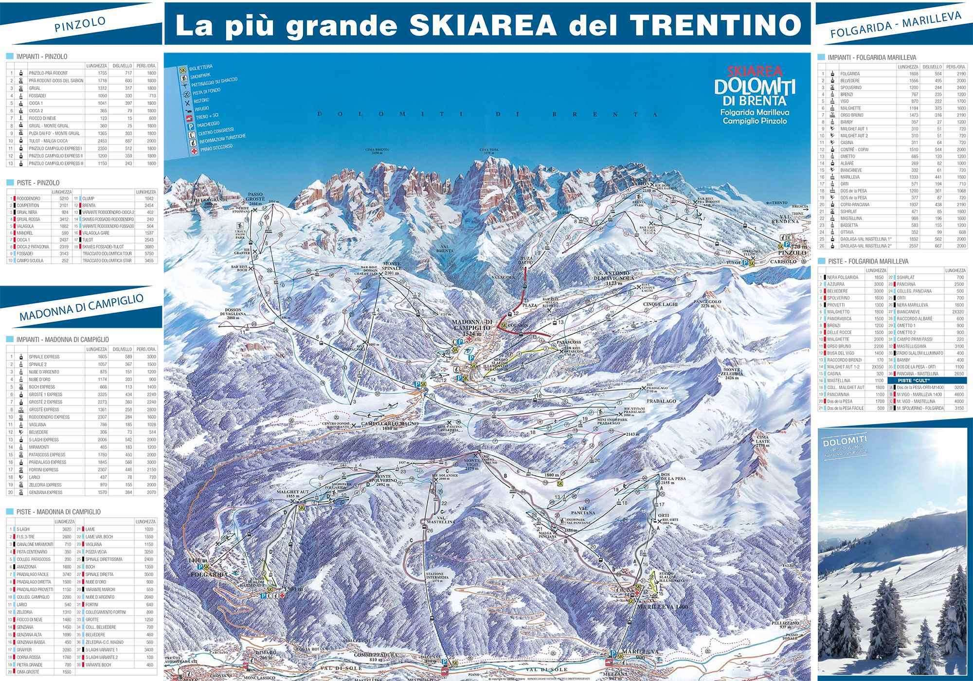 Folgarida piste map