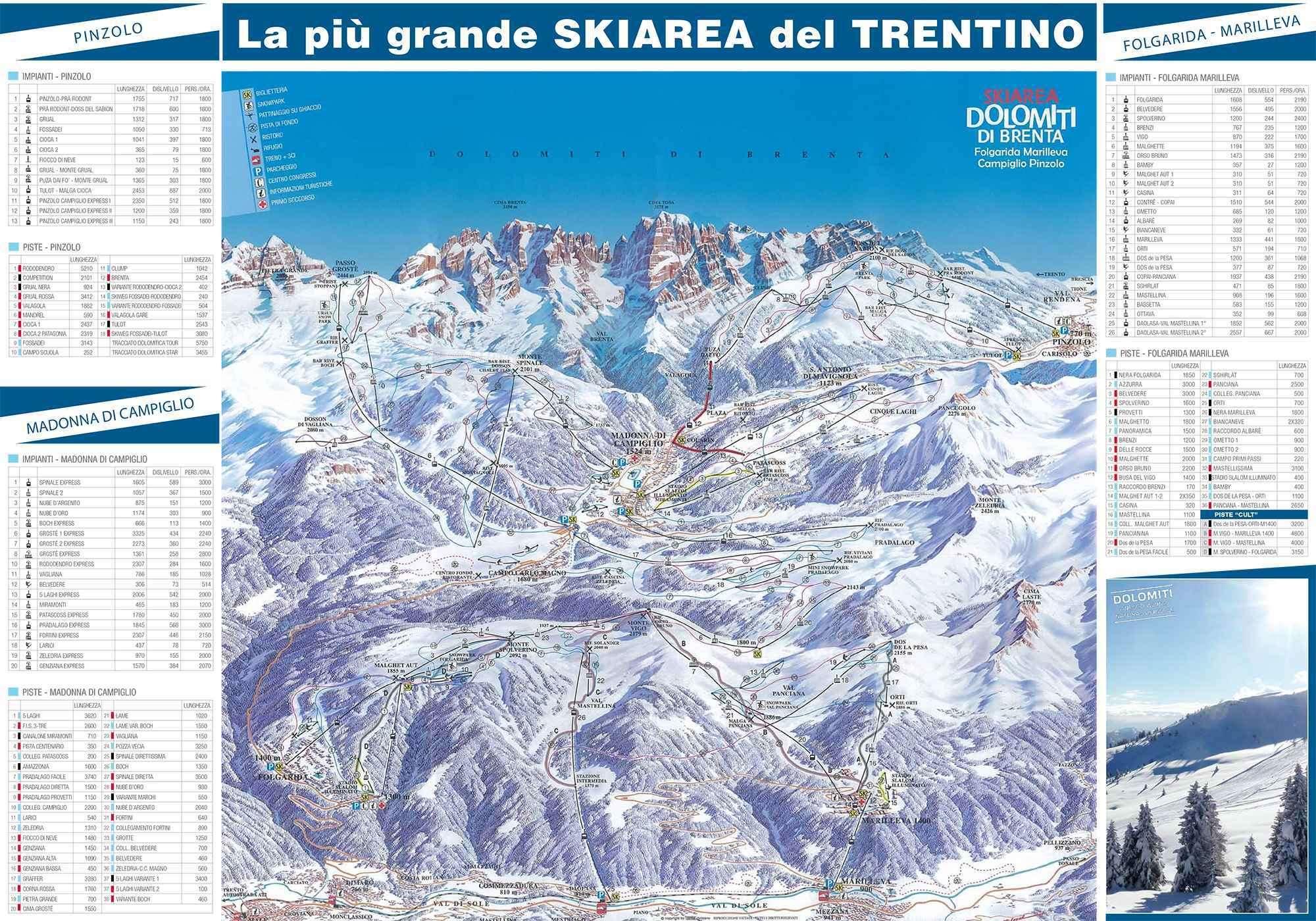 Madonna di Campiglio Piste Map Iglu Ski