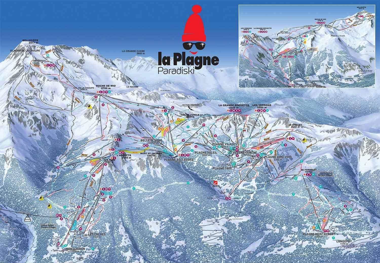 La Plagne 1800 Piste Map Iglu Ski