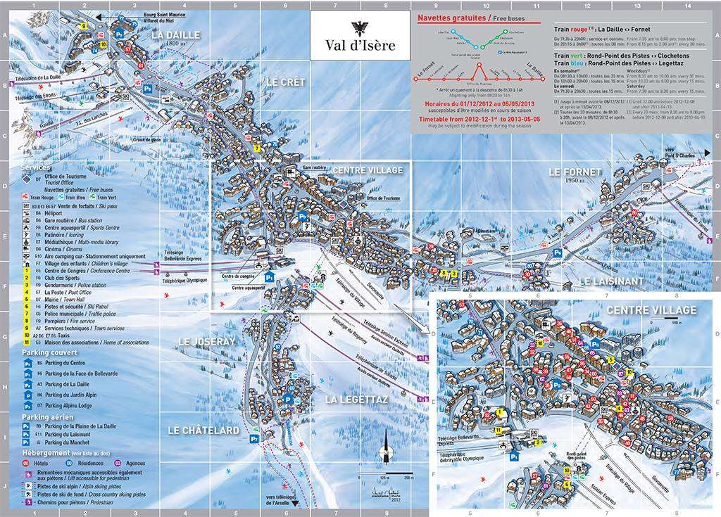 Val d'Isere village map