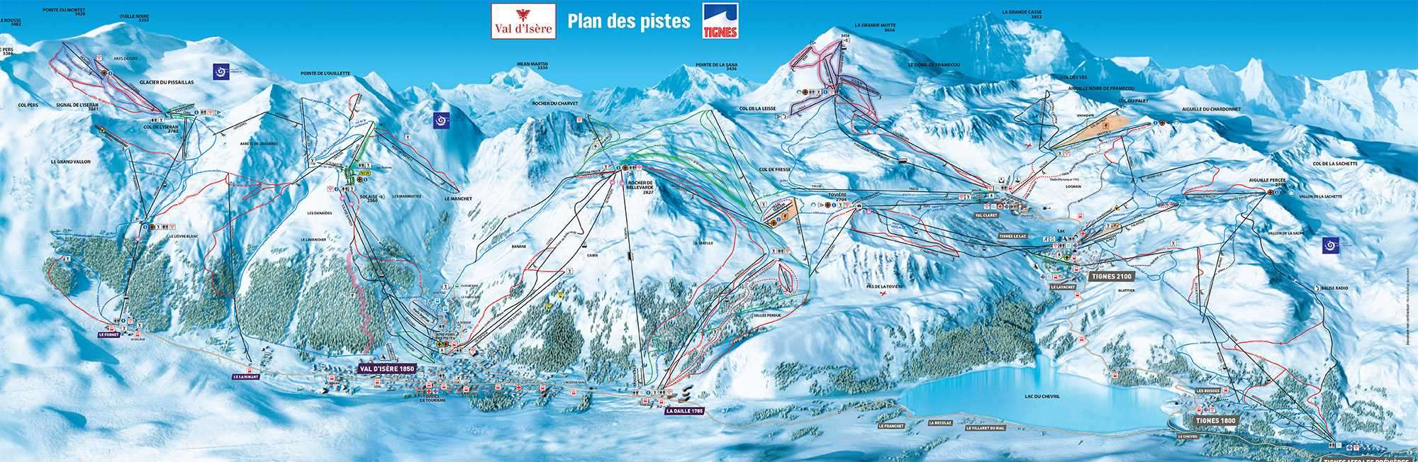 Tignes Piste Map