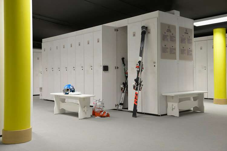 Club Med Val Thorens Sensations ski boot room