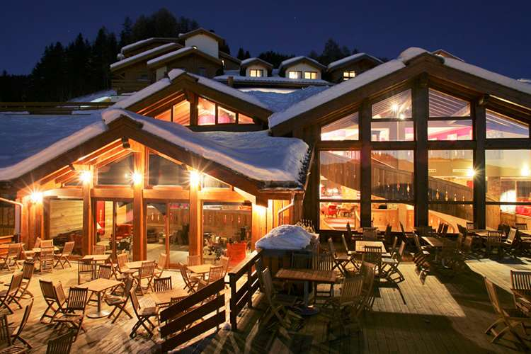 Club Med Peisey Vallandry at night