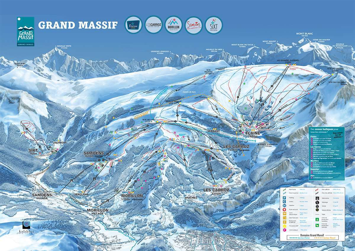 Grand Massif piste map
