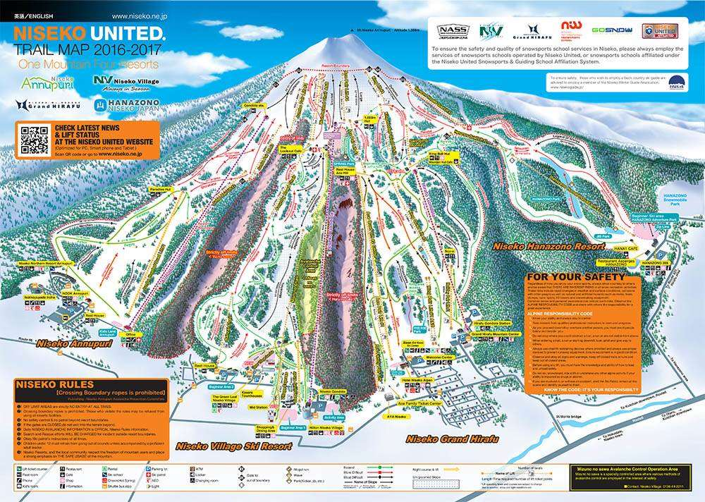 Niseko piste map