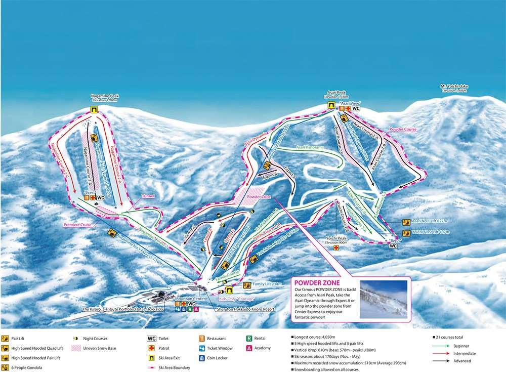 Kiroro piste map