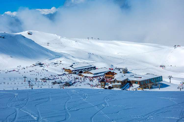 Sierra Nevada ski resort in Spain