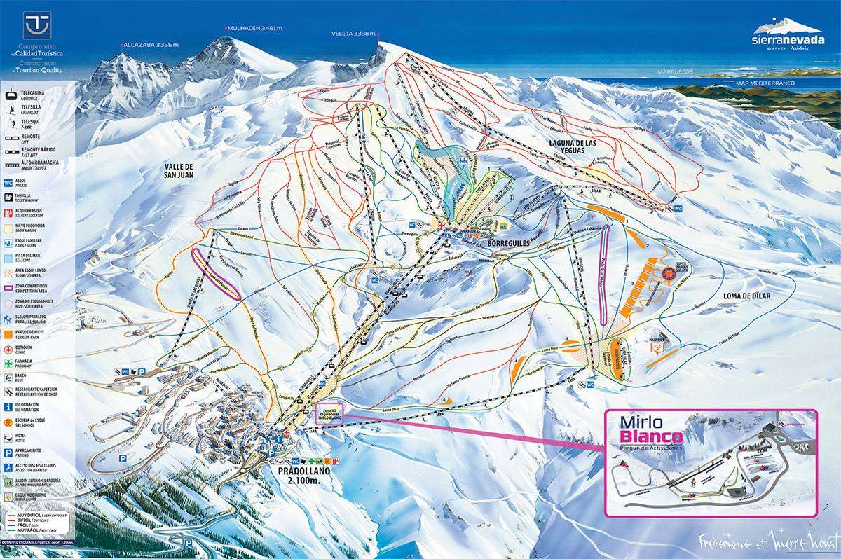 Sierra Nevada piste map