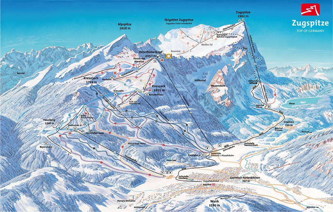 Garmisch-Partenkirchen Piste Map