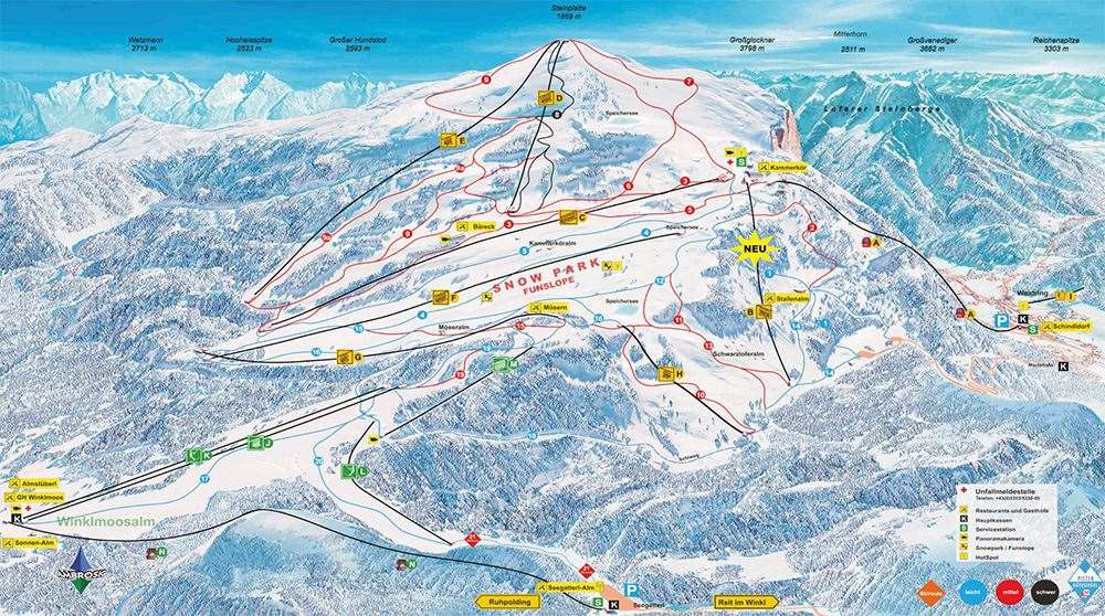 Ruhpolding piste map