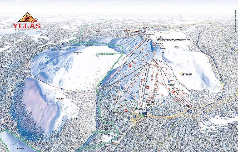 Yllas piste map