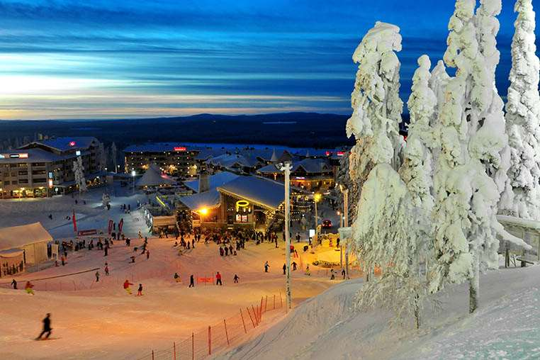 Levi ski resort in Lapland