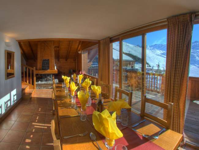 Skiing in Chalet Brigitte