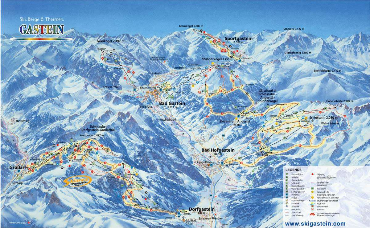 Bad Gastein Piste Map