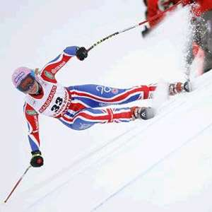 British Skier Chemmy Alcott Breaks Leg