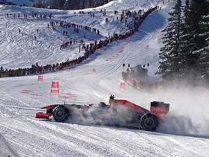 Toro Rosso F1 race car hits the slopes in Kitzbuhel