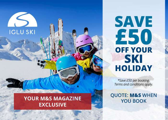 Get £50 off your next ski holiday