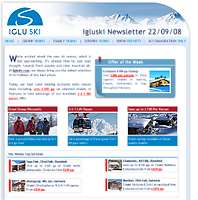 Ski Newsletter Example