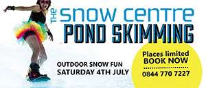 Pond Skimming at The Snow Centre this Summer