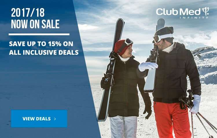 Save 15% on Club Med 2017/18