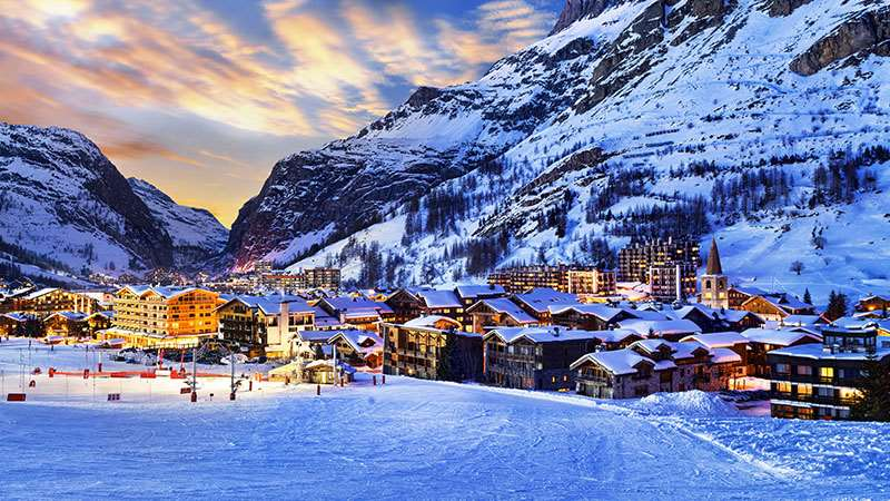 Luxury skiing in France