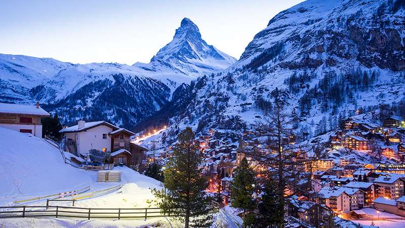 Luxury skiing in Switzerland