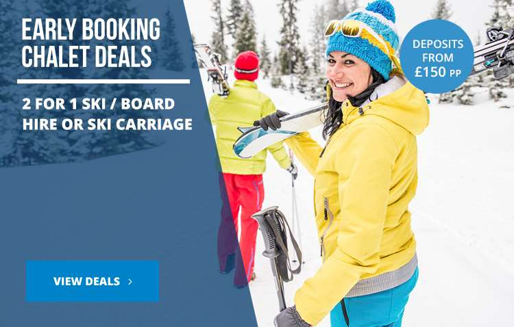 Early booking chalet deals