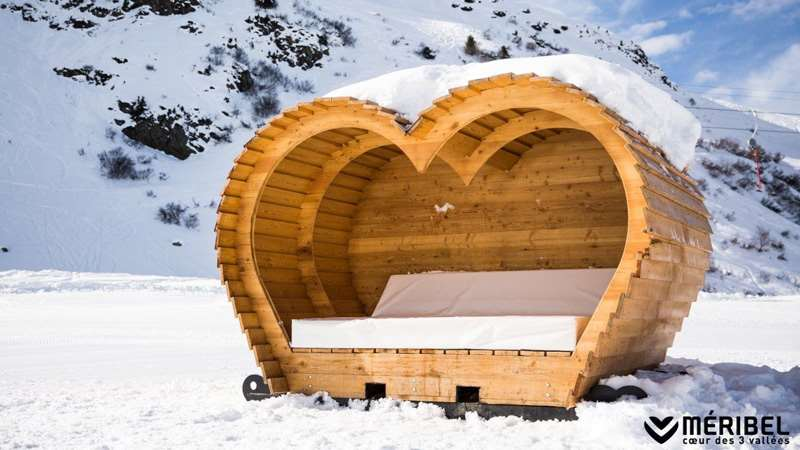 New Meribel heart cabins