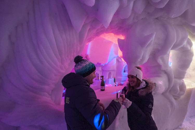 Les Arcs Igloo village