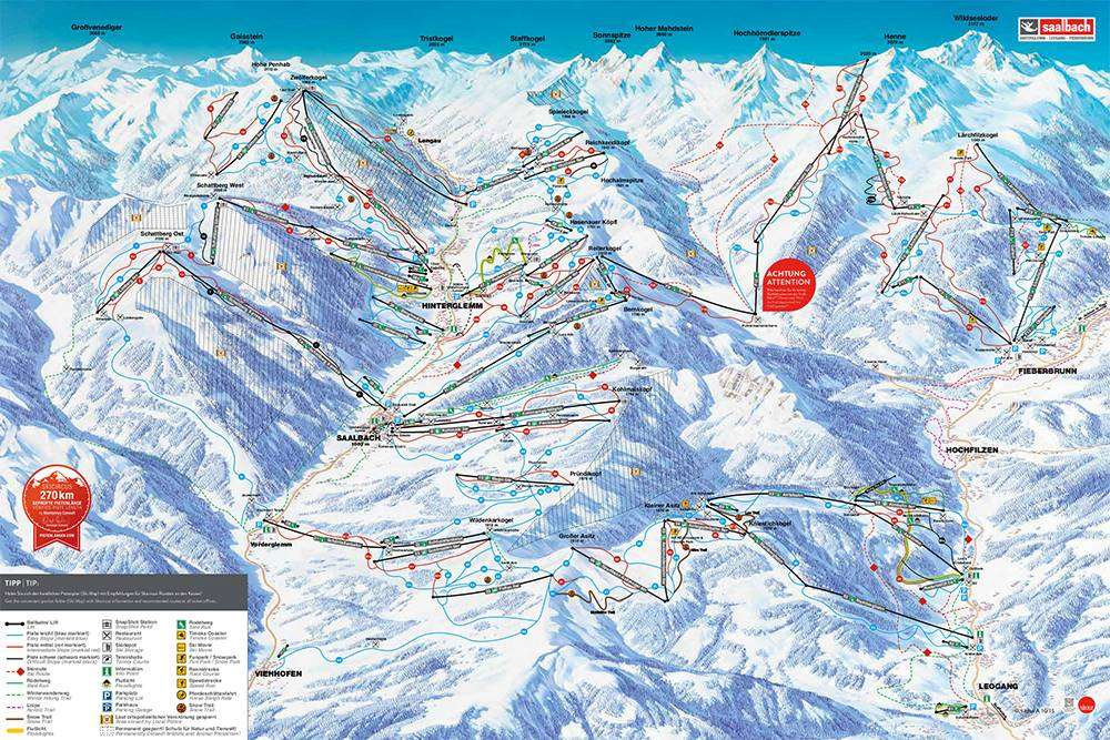 Skicircus piste map