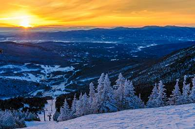 Skiing in Stowe, Vermont
